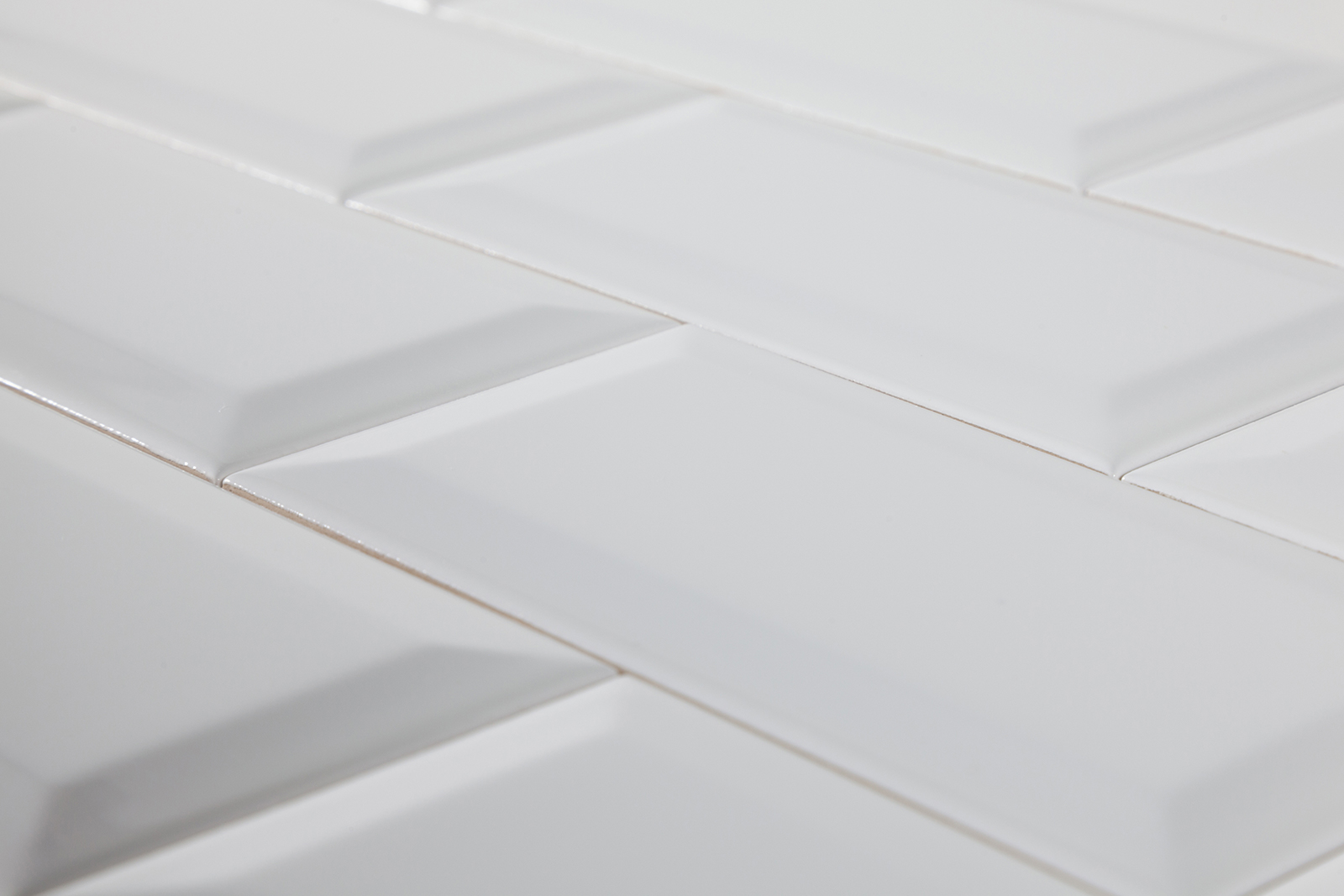 White subway tile trim
