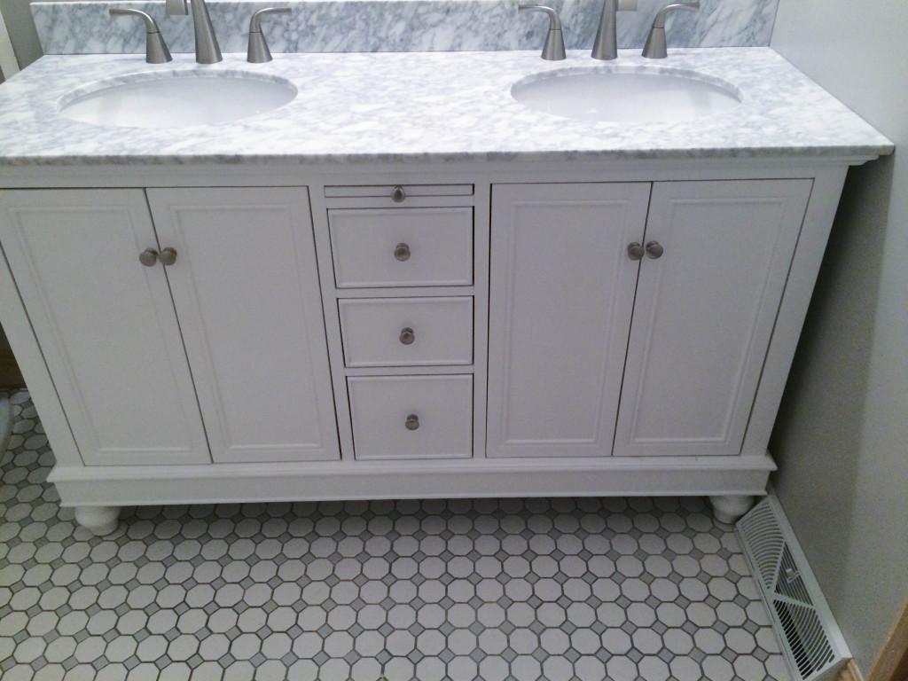 Diy Octagon Amp Dot Bathroom Remodel