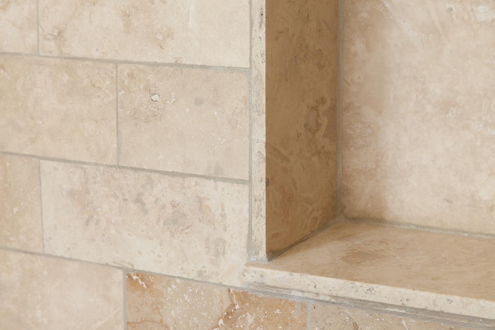 Elegant Natural Stone Bathroom Remodel